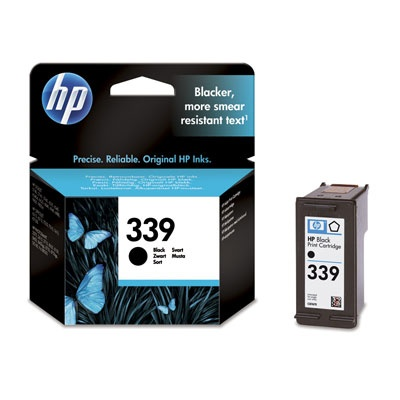 HP 339 Black Ink Cart, 21 ml, C8767EE